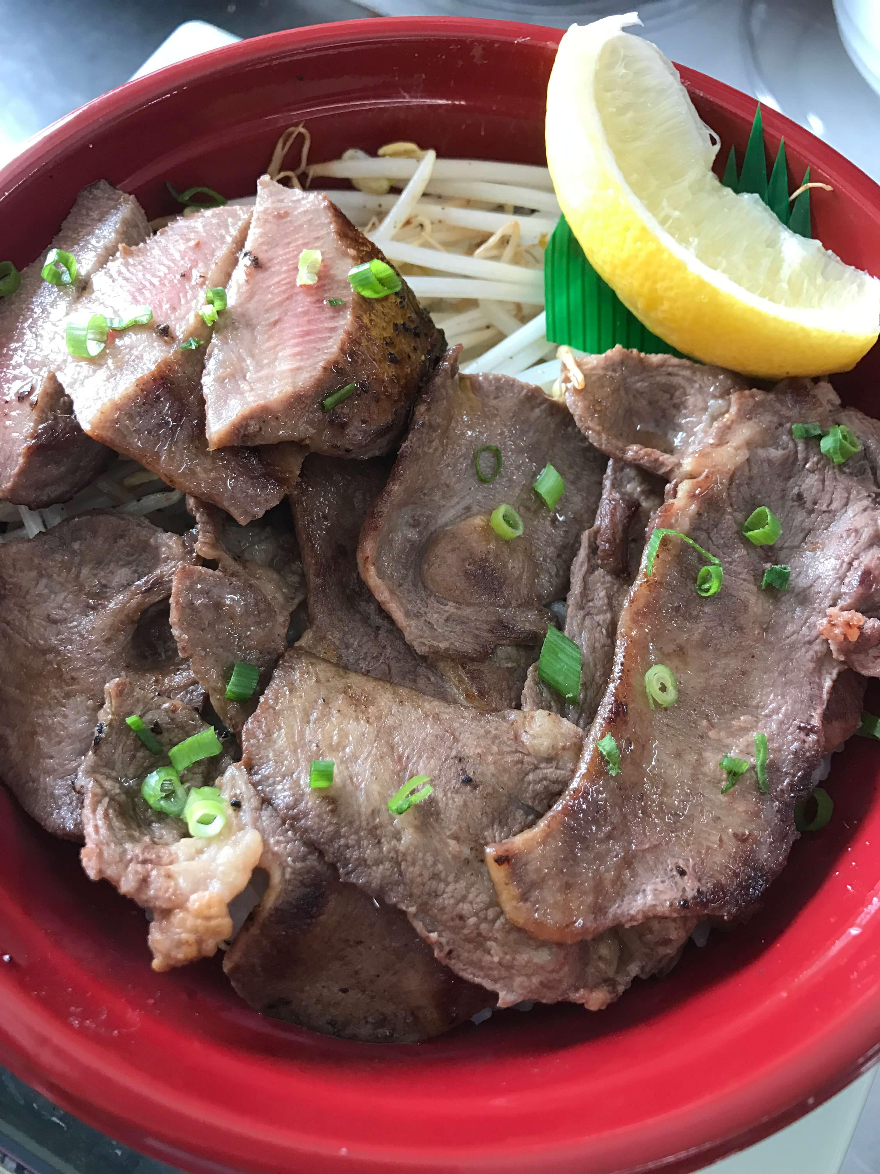 肉のイナミ牛タン丼