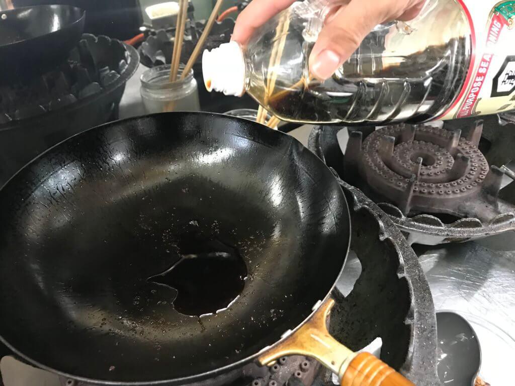 フライパン醤油
